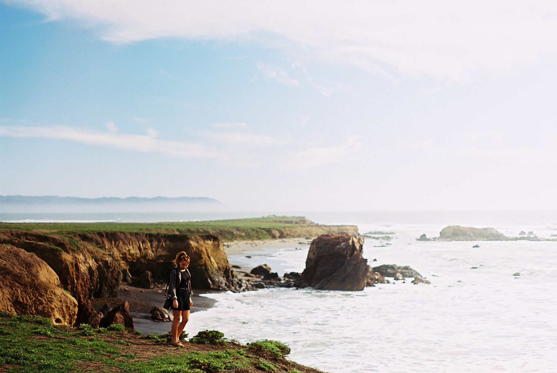 Highway 1 Coastline Portrait Analogue Travel Journal