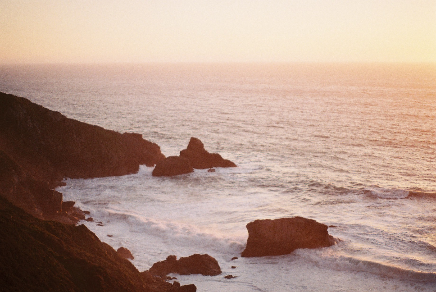 Highway 1 Golden Hour Analogue Travel Journal