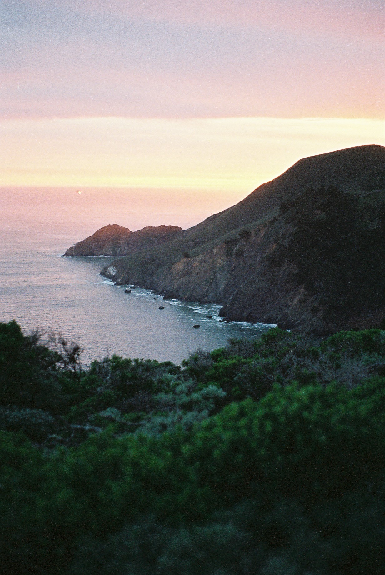 California SF Golden Gate Sunset Analogue Photo Journal