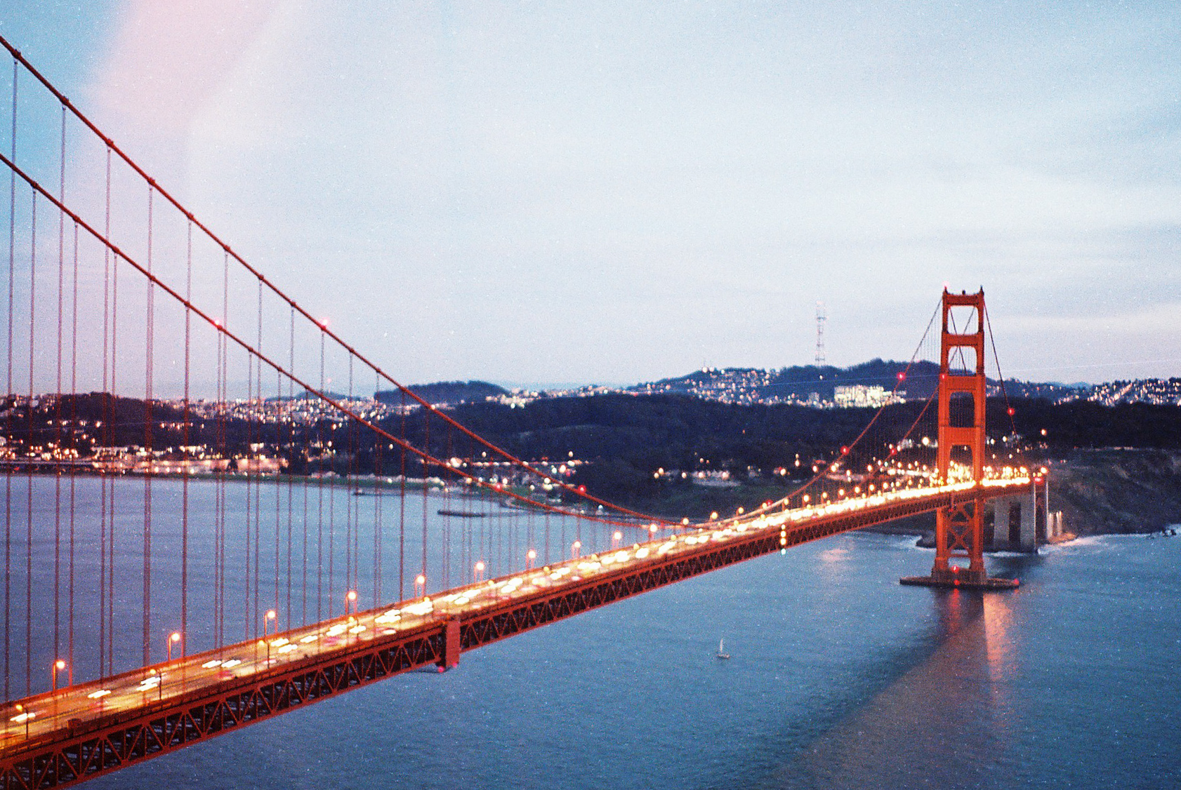 California SF Golden Gate Lights Analogue Photo Journal