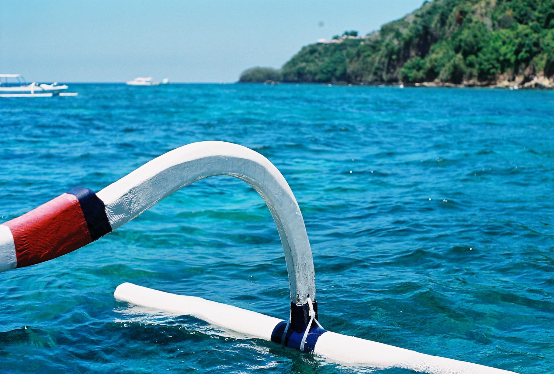 Padangbai Bali Wooden Boat Analogue Travel Photography