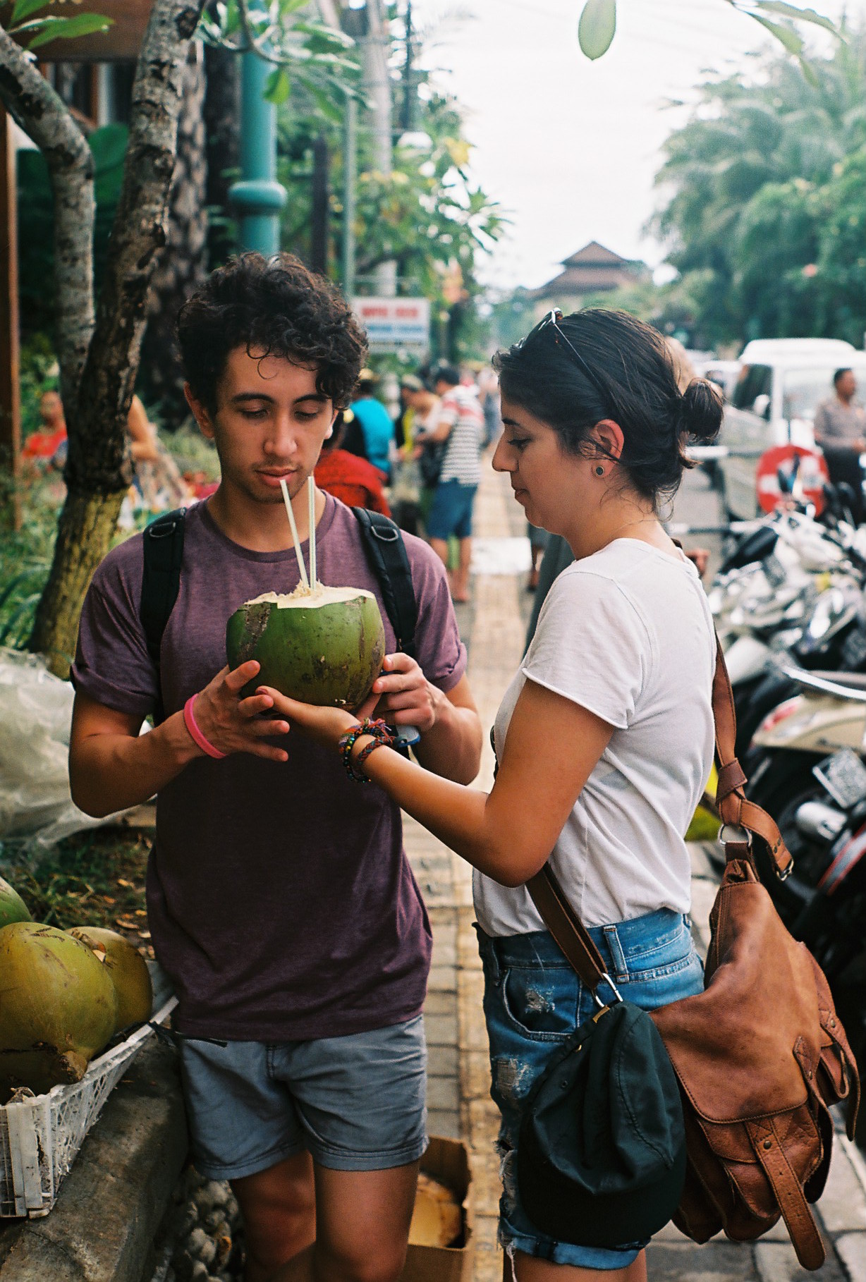 Coconut Water Ubud Bali Analogue Travel Photographer