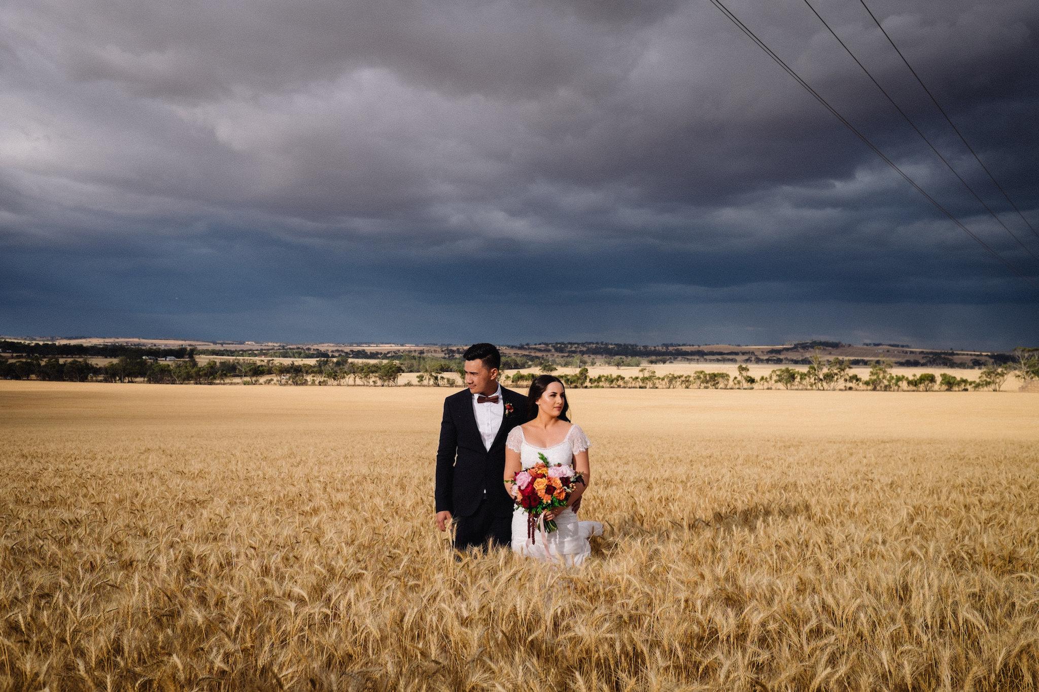 Avon Valley Wheat Field Sarah Marvin York Wedding Photographer 1