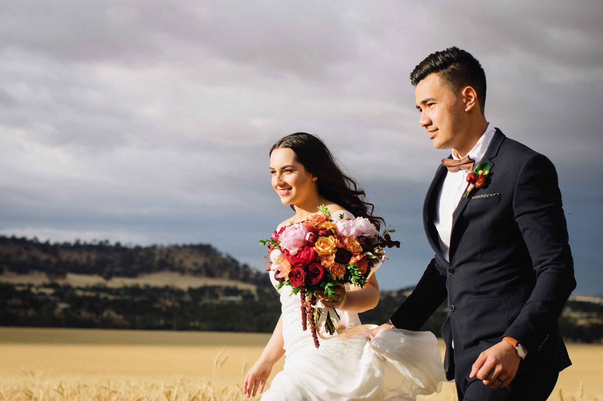 Avon Valley Wheat Field Sarah Marvin York Wedding Photographer 3