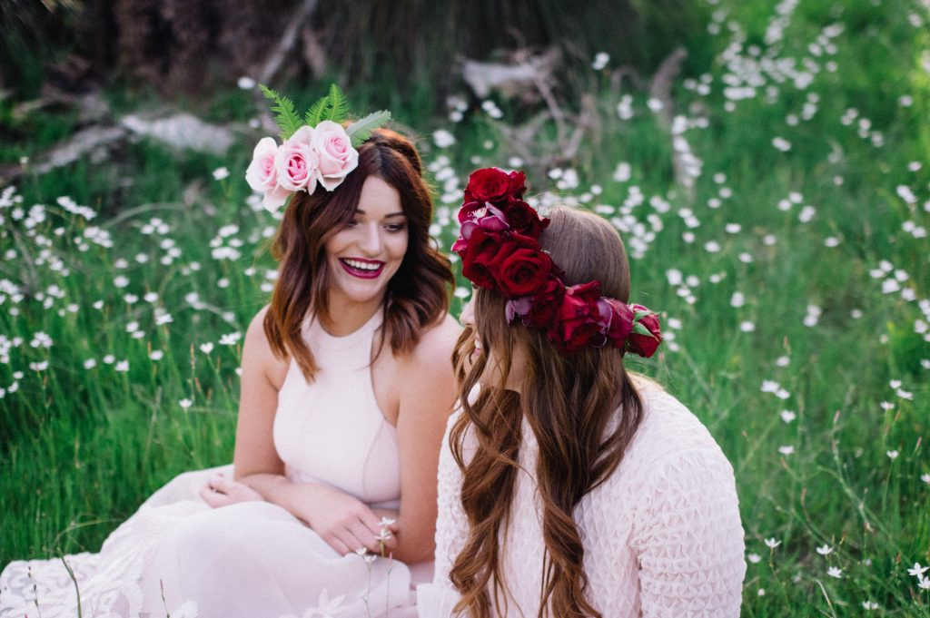 Floral Hairpieces Perth Wedding Styled Shoot