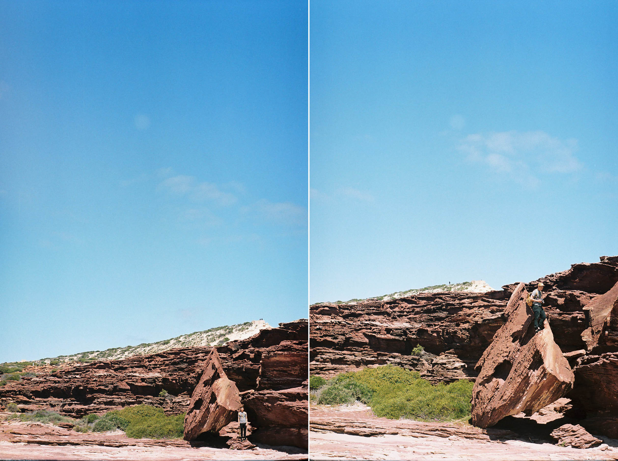 Kalbarri Coastal Walk Climbing Analogue Travel Photographer