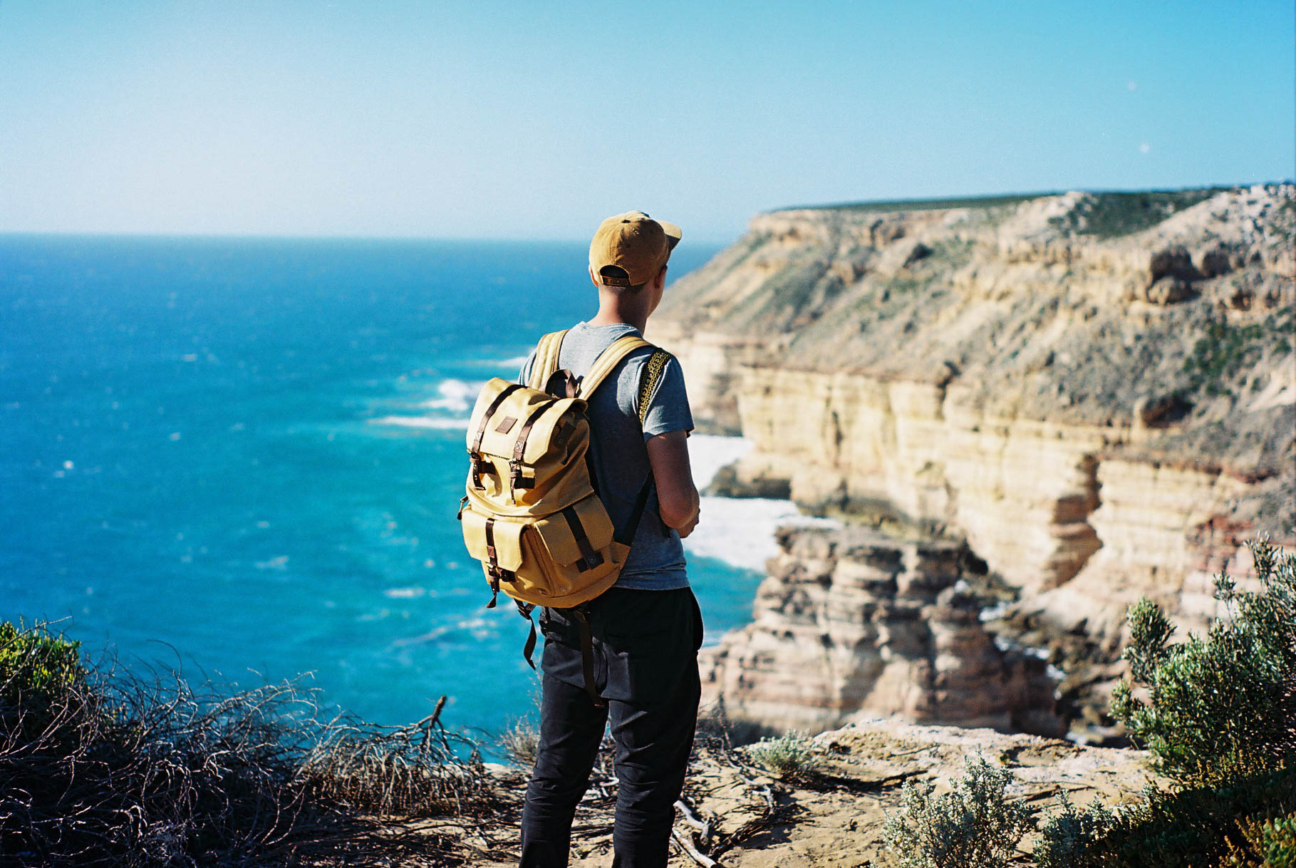 Kalbarri Coastal Cliffs Langly Analogue Travel Photographer
