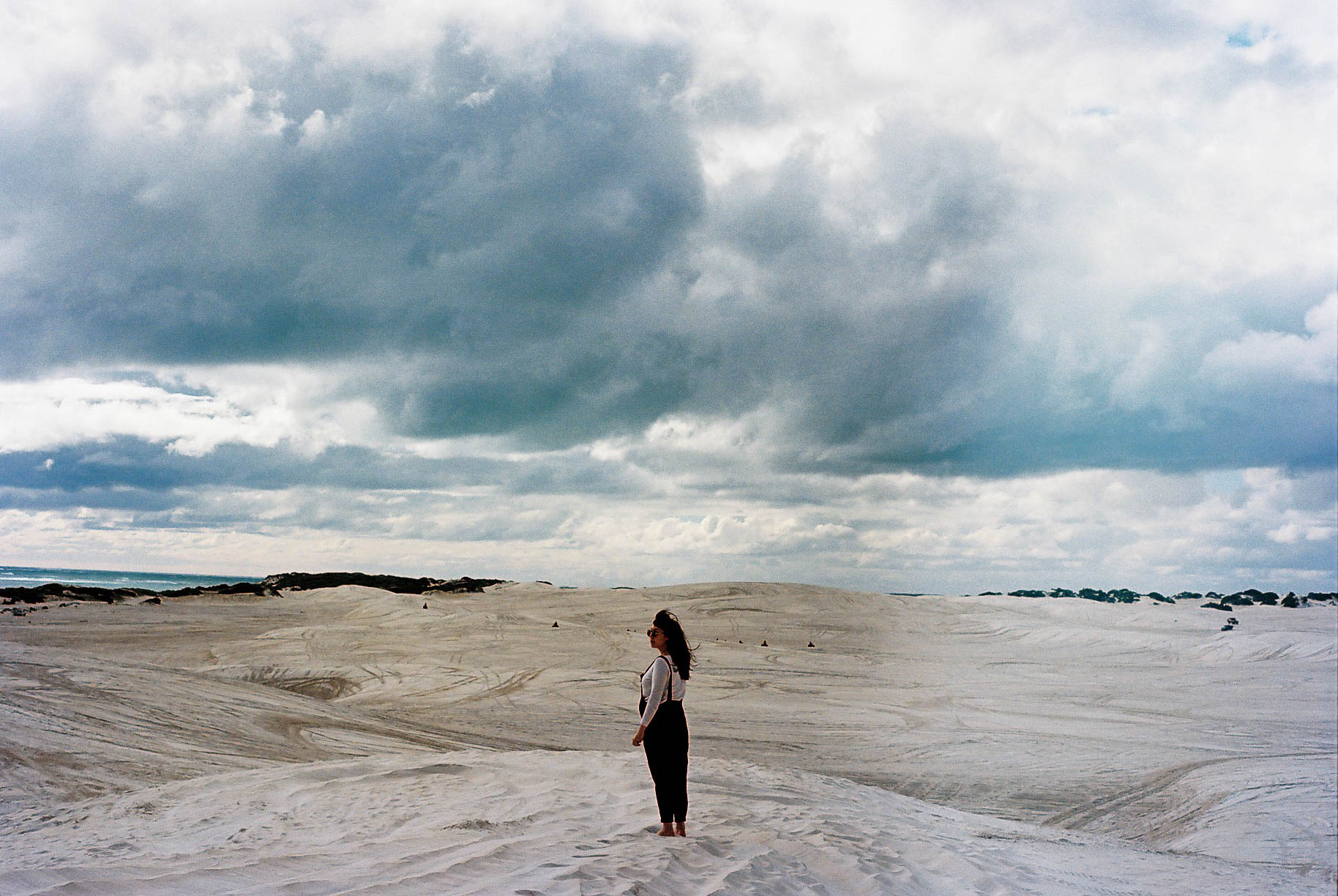 Lancelin Sand Dunes Portrait Roadtrip Analogue Travel Photographer