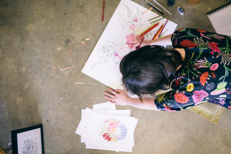 Creative Business Photography Ashleigh Perrella Artist Florist 34
