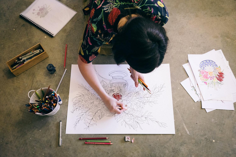 Creative Business Photography Ashleigh Perrella Artist Florist 29