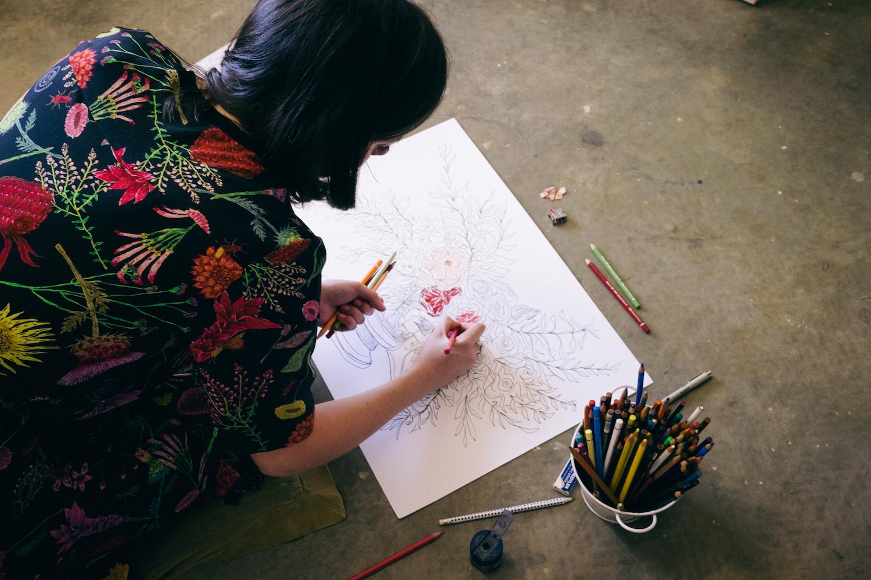 Creative Business Photography Ashleigh Perrella Artist Florist 30