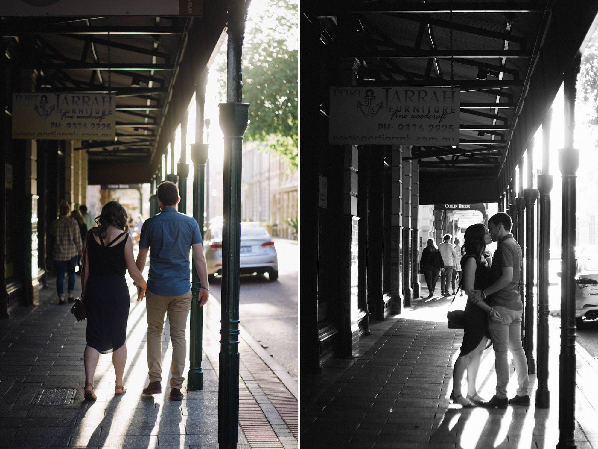Fremantle Engagement Photographer Glen Kara High Street