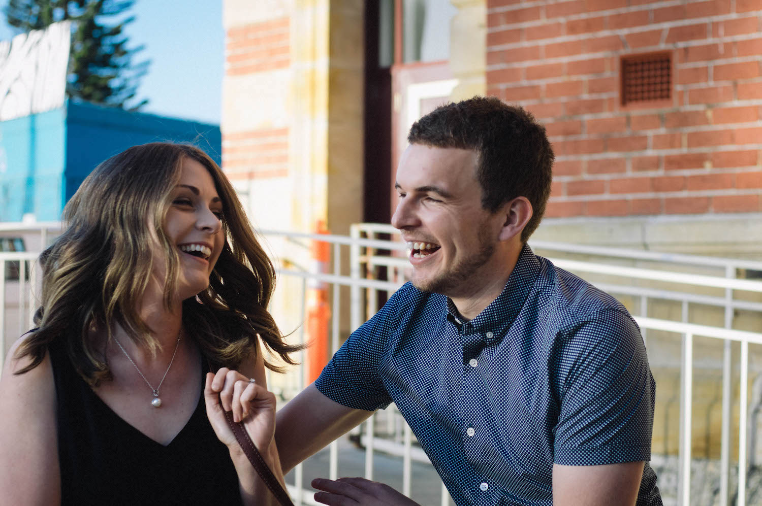 Fremantle Engagement Photographer Glen Kara Laugh
