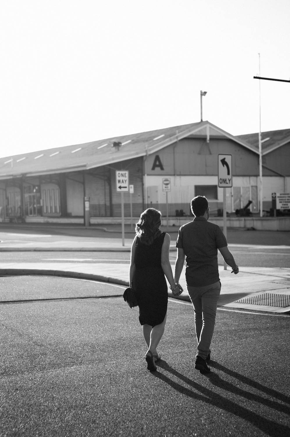 Fremantle Engagement Photographer Glen Kara A Shed