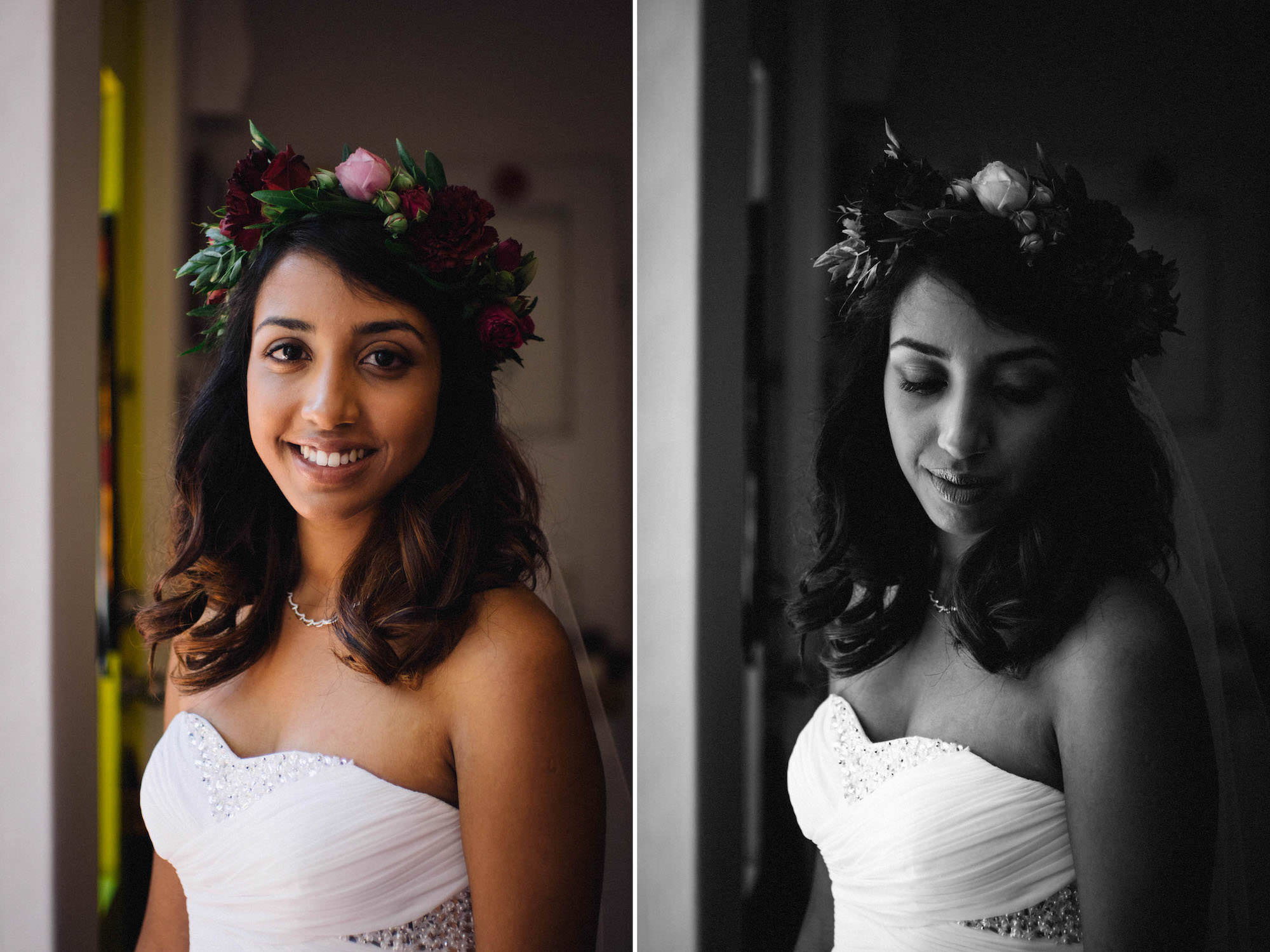 Tripthi, an Indian-Canadian bride, on the morning of her Subiaco wedding.