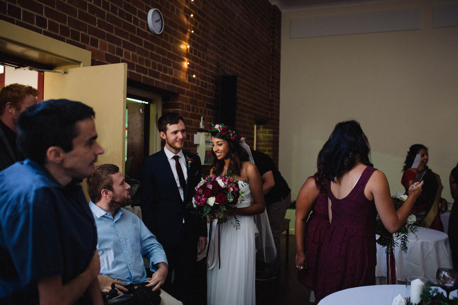 The bride & groom celebrate after their Subiaco wedding ceremony at St Matthew's Anglican church.