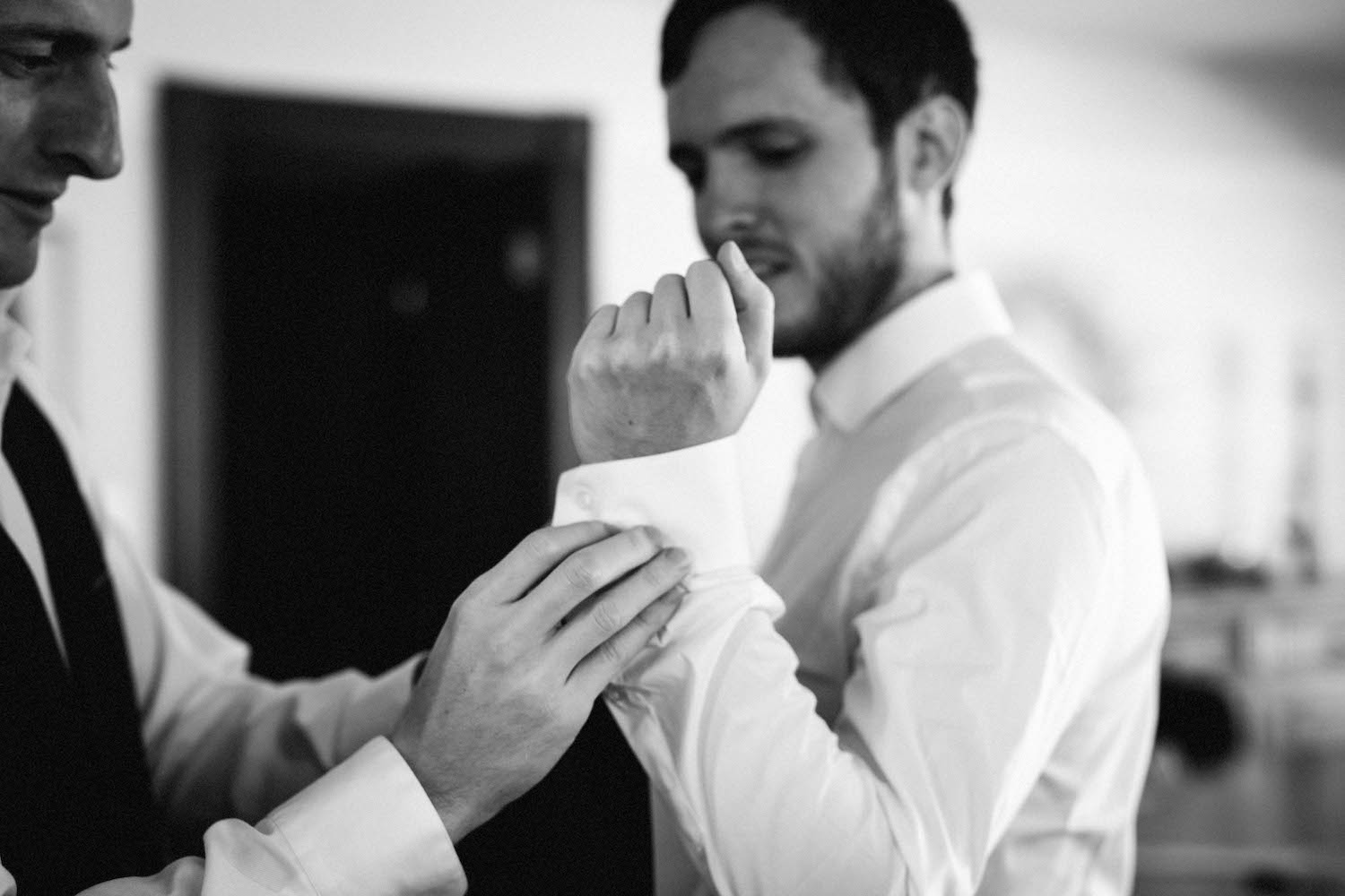 A Perth groom getting ready for his Subiaco wedding