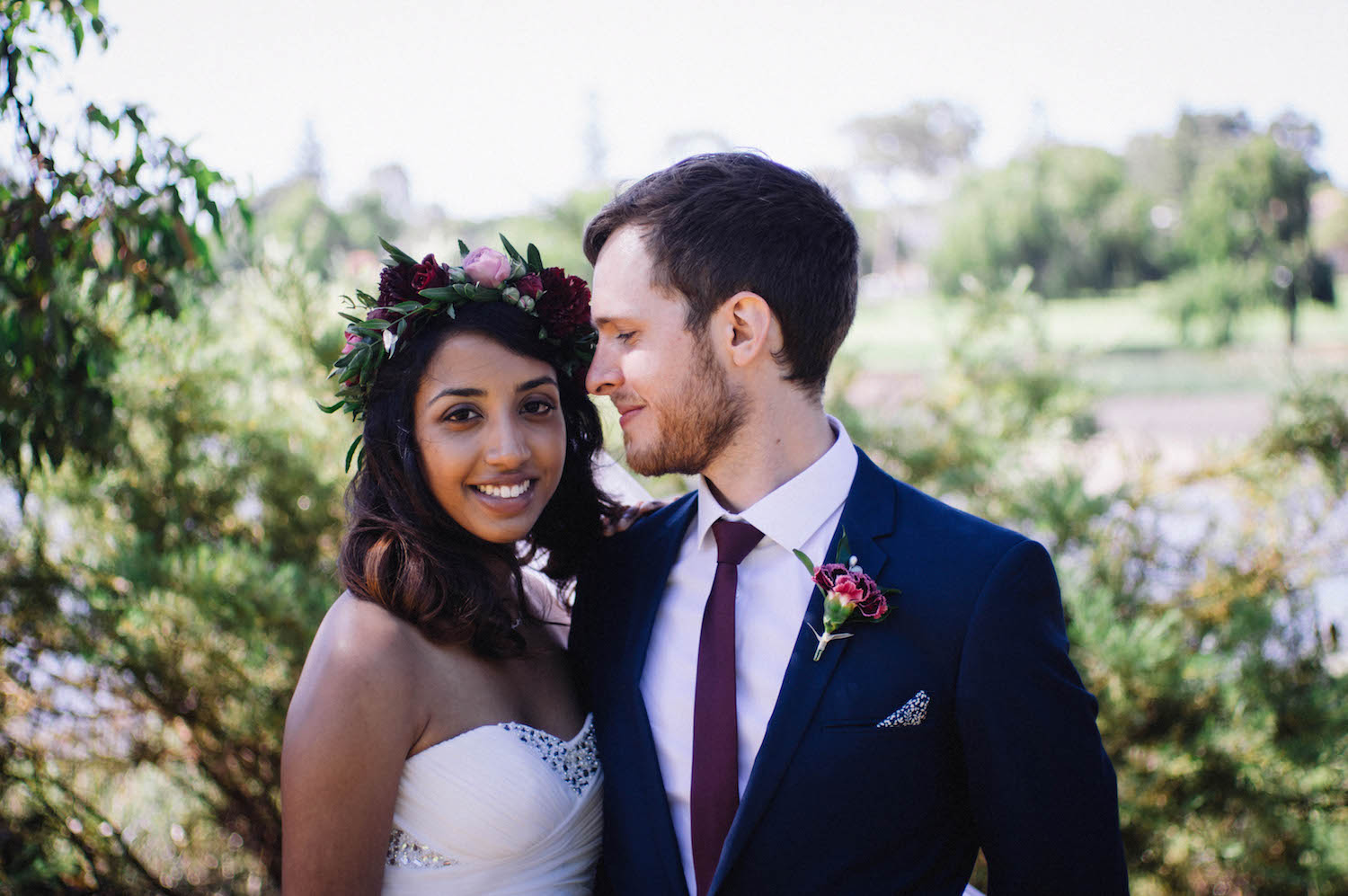 Bridal portraits of Jibb & Tripthi taken at Shenton Park by Rhianna May Destination Wedding Photographer