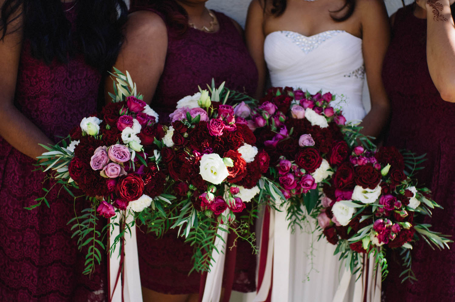 Beautiful bouquets at a Canadian Indian Australian wedding in Subiaco, Western Australia.
