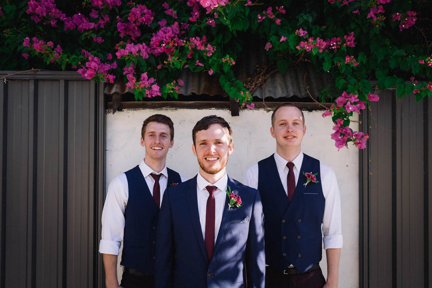 Jibb & his groomsmen in a suburban Subiaco laneway in Perth, Australia.