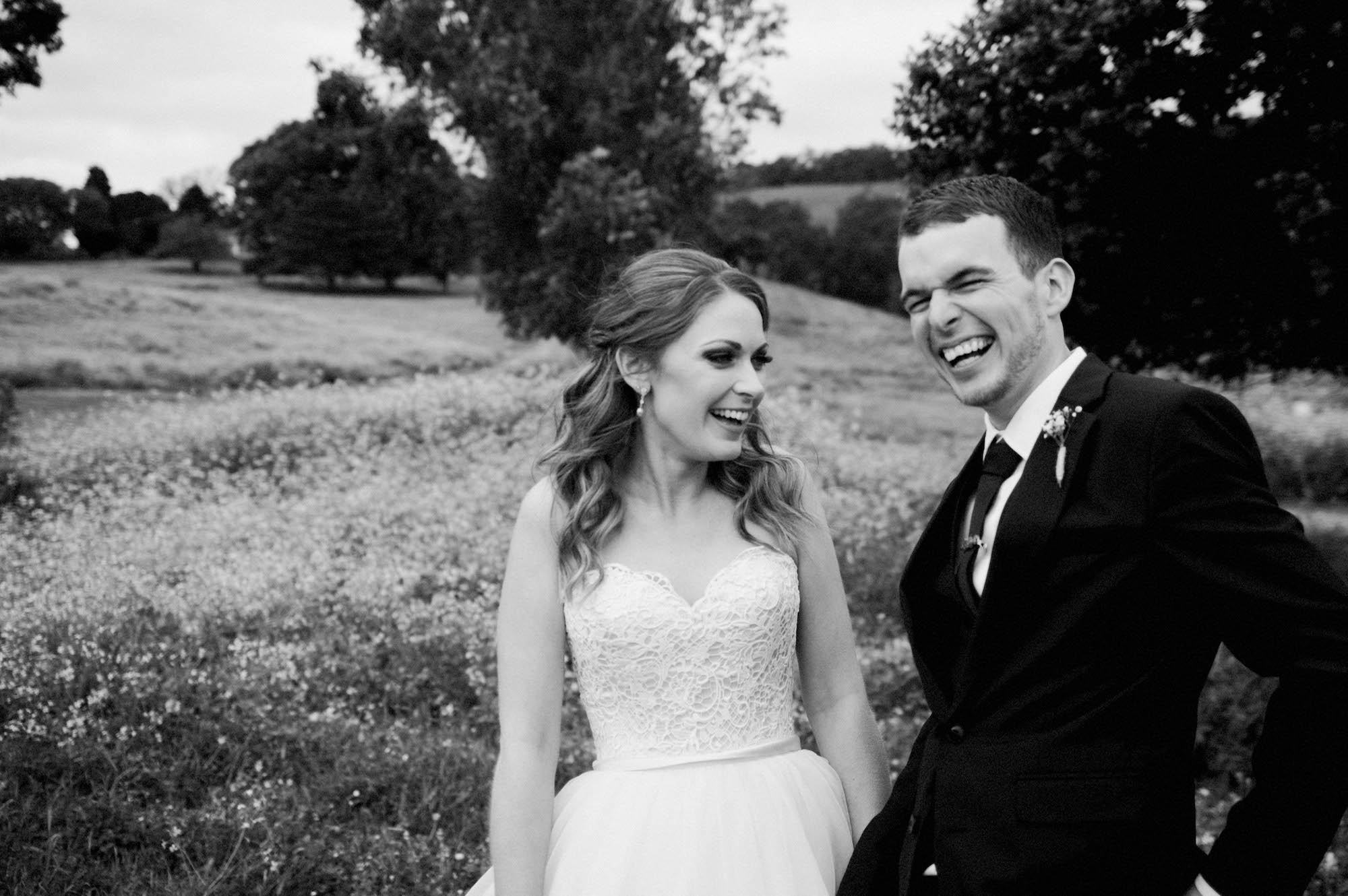 Authentic black & white wedding photography at Quarry Farm, WA.