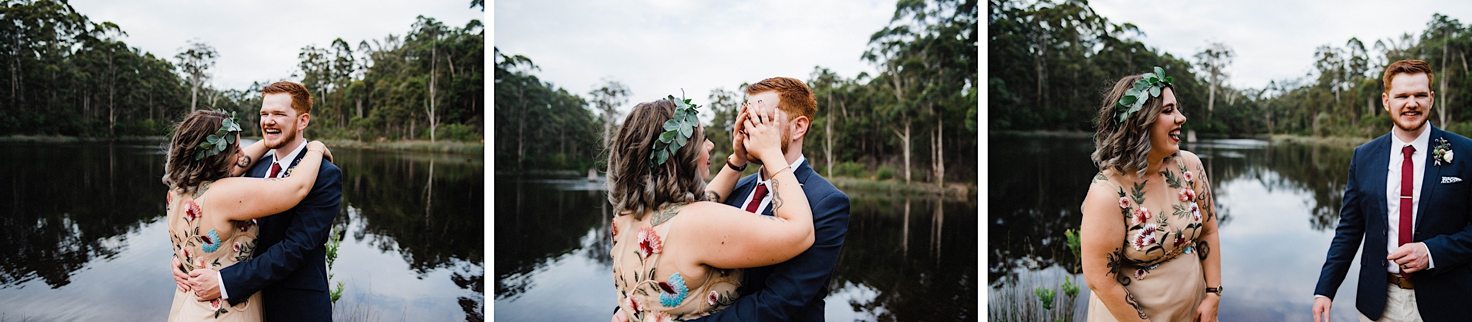Wedding photography at the Donnelly River Village Dam