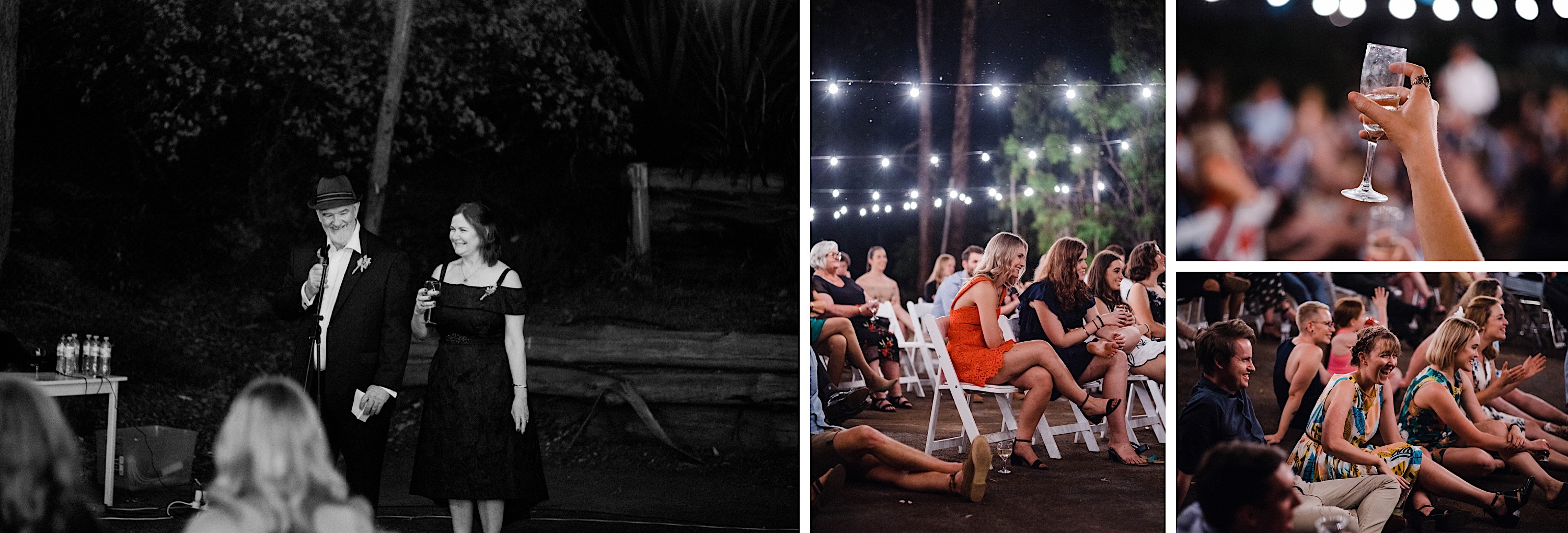 A few photos from the Groom's Parent's speech taken at the Donnelly River Tennis Courts.