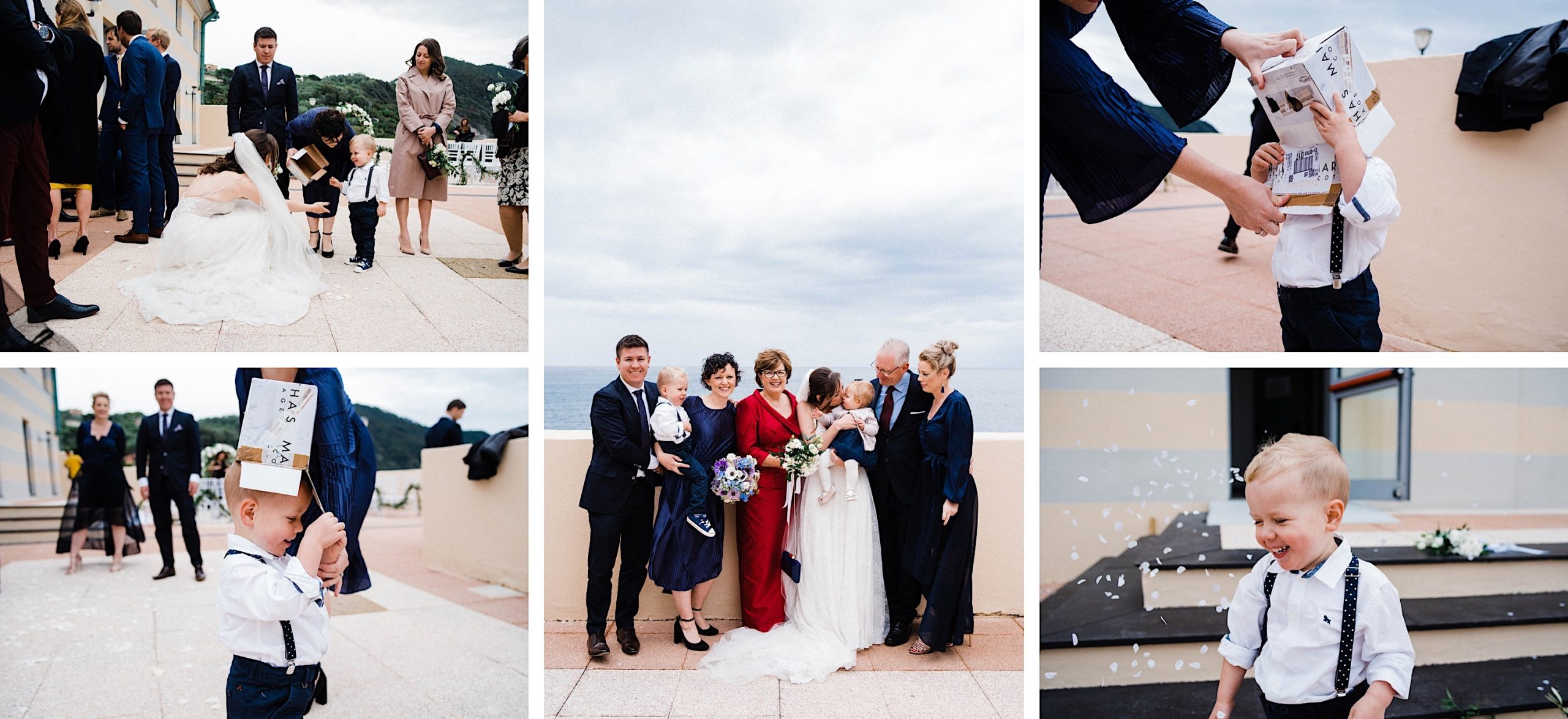 Candid and classic Italian wedding photography of the bride's Australian family at her Destination Wedding in Sestri Levante, Italy.