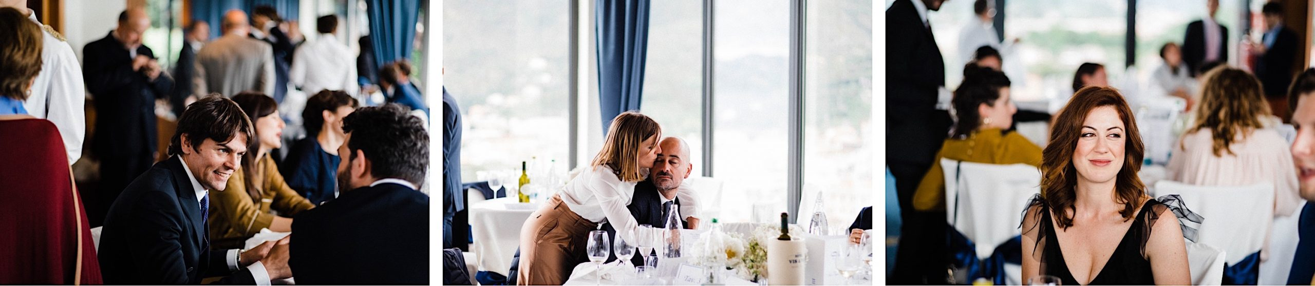 Documentary, Candid Wedding Photography of guests during a destination wedding on the Italian Riviera.